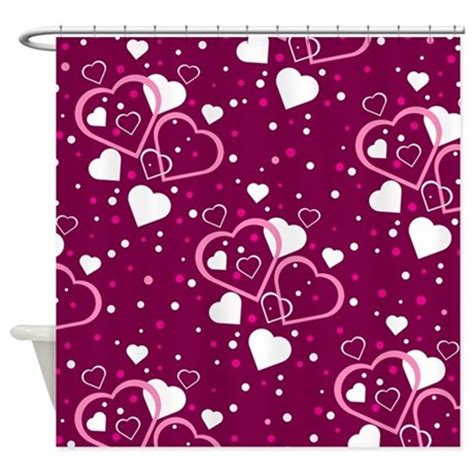 valentine shower curtain valentine hearts on purple shower curtain by stircrazy