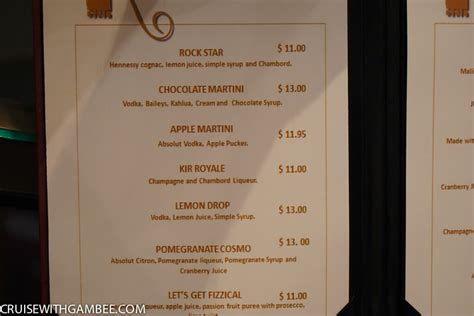 celebrity lounge price royal caribbean drink prices cruise with gambee