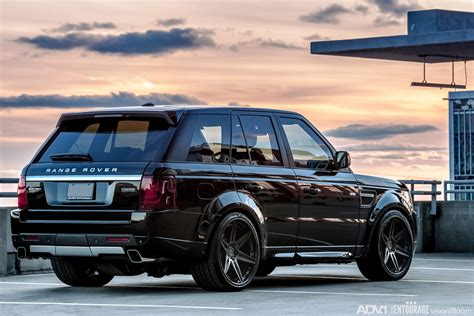 black land rover black range rover sport adv6 track spec cs adv 1 wheels