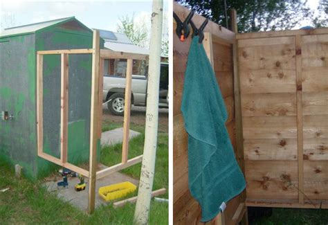 diy outdoor shower with water 5 diy outdoor solar shower ideas grid world