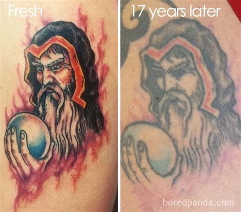 before and after tattoos bare body shop 15 before after pics reveal how tattoos age over time