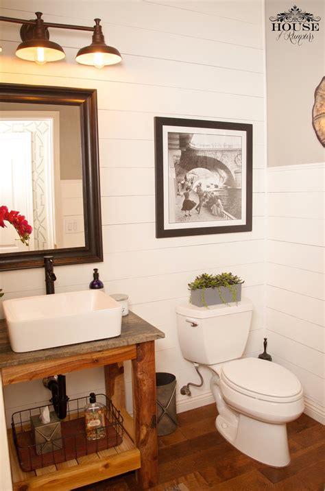 Shiplap Bathroom by White Shiplap Bathroom Diy Vanity Diy Projects