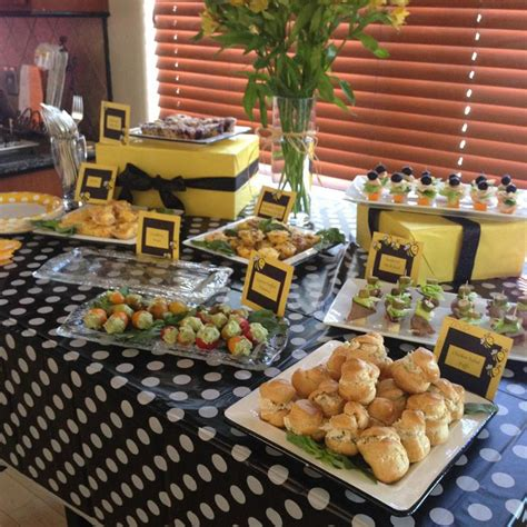 theme buffet names 31 bee themed baby shower decorations table decorating ideas