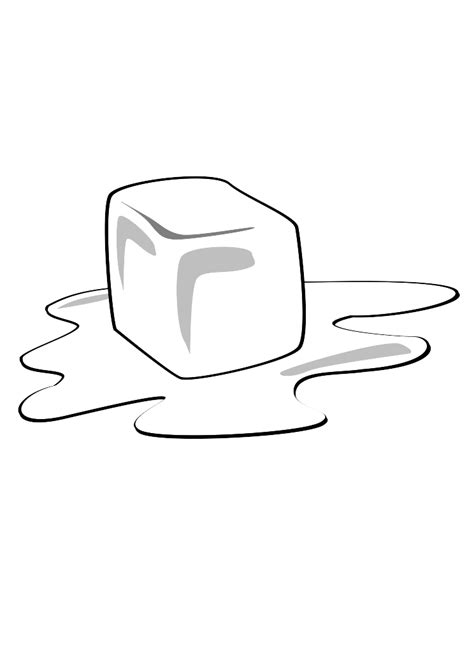 melting ice cube coloring pages sketch coloring page