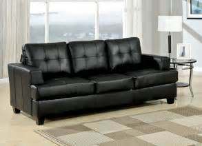 Diamond black leather sofa bed