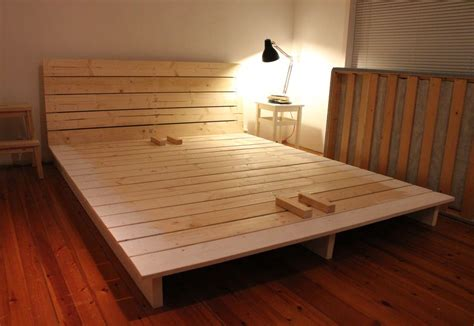 platform bed frame diy build your own king size platform bed frame quick