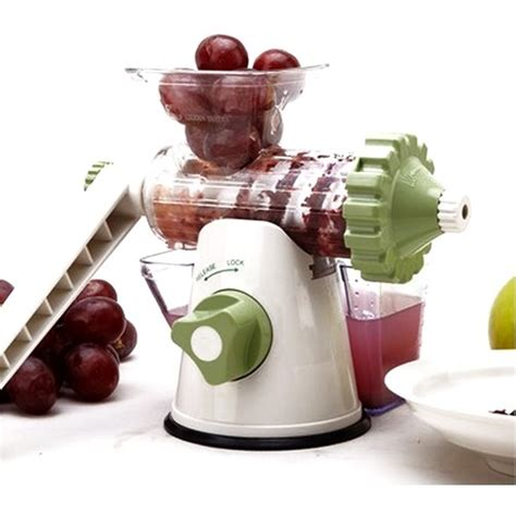 Etrue Cranked Healthy Juicer Green Jj5c etrue cranked healthy juicer green