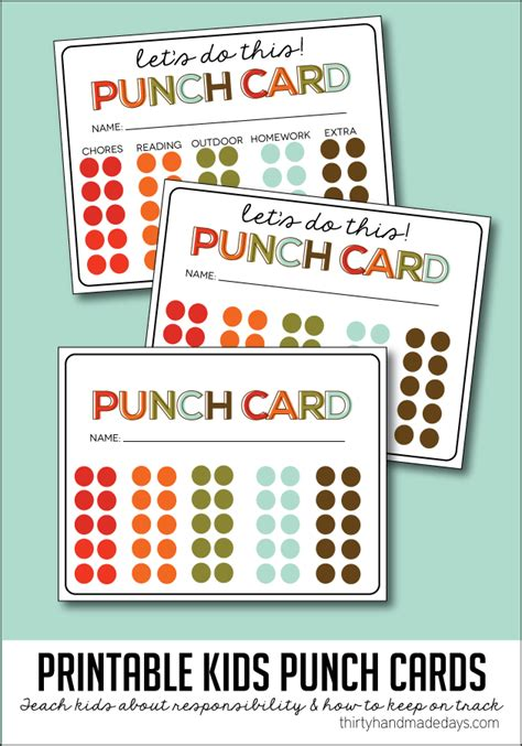 Punch Card Templates by Free Printable Punch Card Template Vastuuonminun