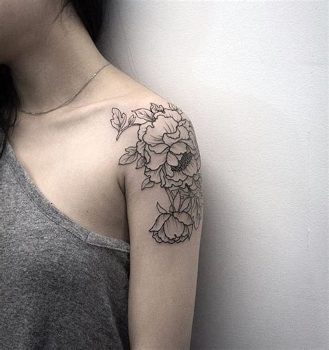 left shoulder tattoo designs 17 best ideas about peony flower tattoos on