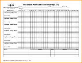 Medication Chart Template Free by Printable Medication Chart Template Pictures To Pin On