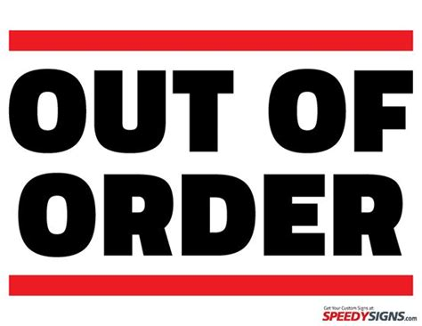 33 Best Free Printable Signs Images On Pinterest Free Printable Template And Prince Out Of Order Sign Template