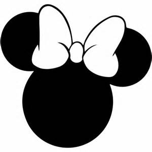 Mickey Mouse Silhouette Template by Minnie Mouse Svg Outline Laptop Cup Decal Svg Digital