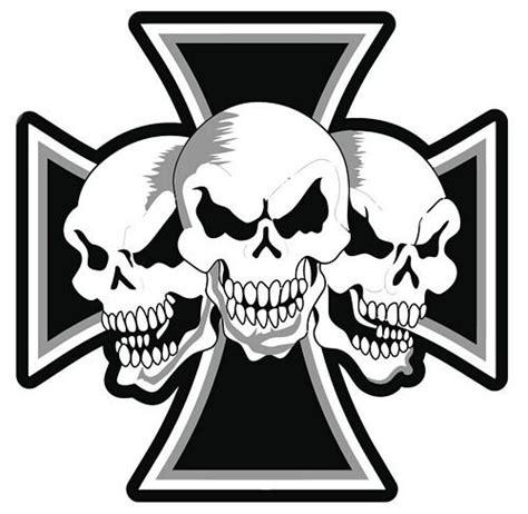 Sticker Totenkopf by Mehristweniger De Aufkleber Sticker Eisernes Kreuz