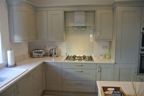 Light Grey Shaker Kitchen Shaker Painted Light Grey Traditional Kitchen Other By Kitchens Bathrooms By Coast