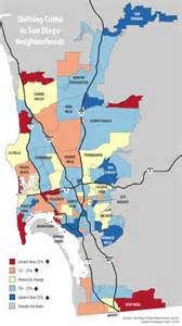 San Diego Gang Map map shifting crime in san diego neighborhoods voice of