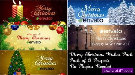 free template after effects merry christmas merry christmas wishes pack after effects project