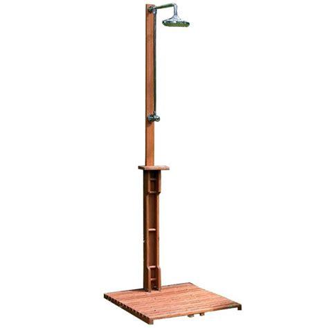 doccia in legno doccia da giardino in legno balau pedana 70x70cm rubinetto
