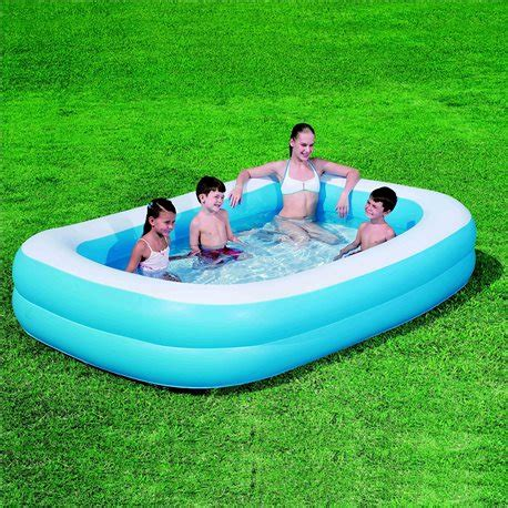 Piscine Gonflable 1956 piscine gonflable rectangulaire bleue 262 174 51 224 26 50