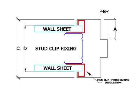 standard stud wall thickness stud clip fixing wall 101mm to 140mm thick taylors doors