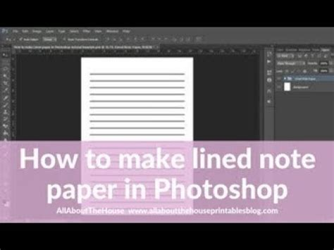 insert pattern in photoshop how to make lined note paper diy planner insert refills in