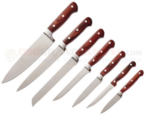 Ontario Kitchen Knives Ontario Knives King Cutlery 10 Kitchen Knife Set 8794 Osograndeknives