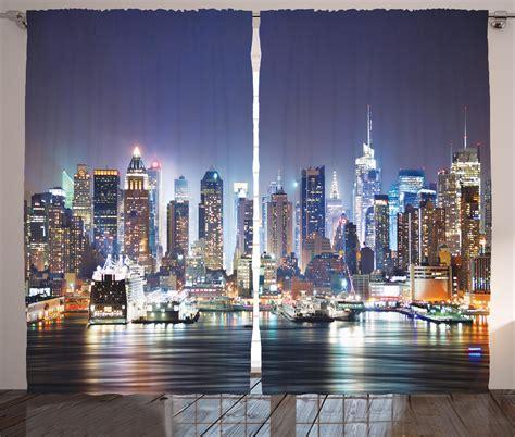 skyscraper curtains new york city manhattan at night nyc skyscraper art