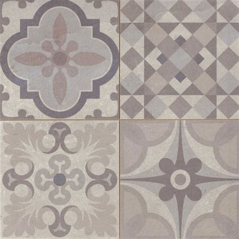 gray pattern tiles warm grey patchwork tiles
