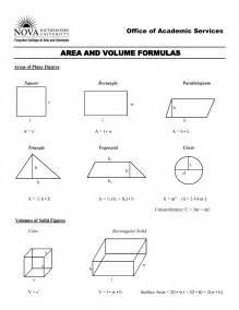 area formula volume formula