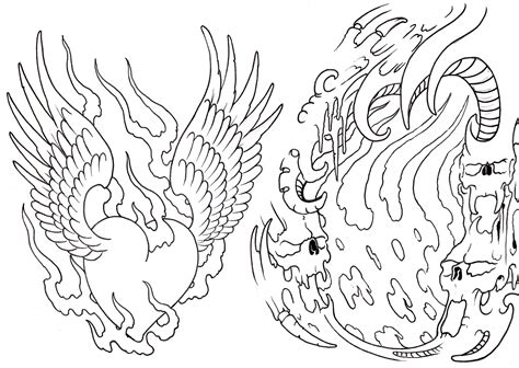 free tattoo outline designs free skull flash