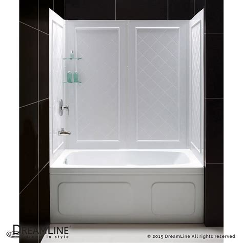 bathtub shower kit qwall tub backwalls kit