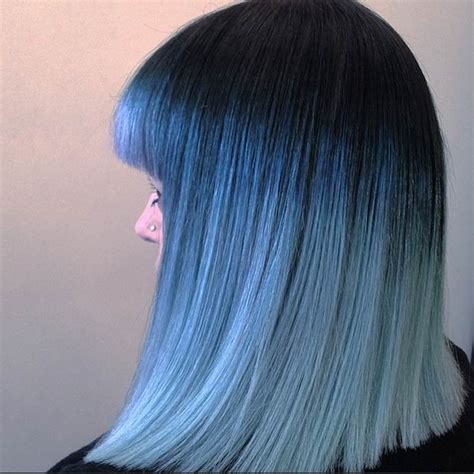 Grayish Blue 21 Bold And Beautiful Blue Ombre Hair Color Ideas Stayglam
