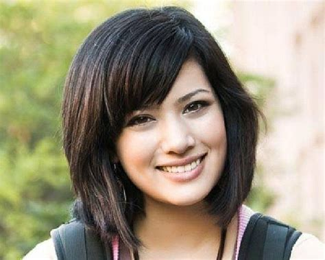 japanese haircuts for thick hair asian medium hairstyles for thick hair with side bangs