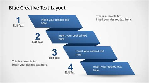 powerpoint layout with 4 pictures blue creative text layout for powerpoint slidemodel