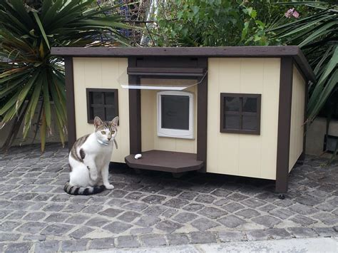 outside cat house plans outdoor cat house design home photo style