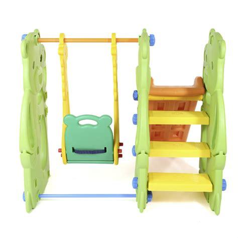 toddler swing slide kids swing playground slide children play area outdoor
