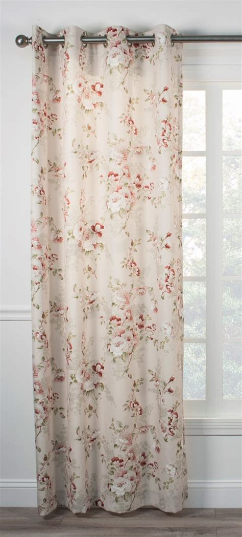 red curtains with grommets chatsworth floral lined grommet top curtain panel red