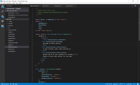 format file in visual studio code react native visual studio code formatting fail on save