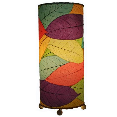 eangee home design lighting eangee 615 t m cocoa leaf cylinder table l in multi