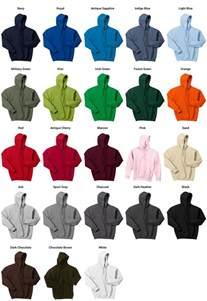 gildan sweatshirt colors gildan hoodie color chart car interior design