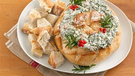 christmas tree spinach dip recipe easy spinach dip wreath recipe from betty crocker