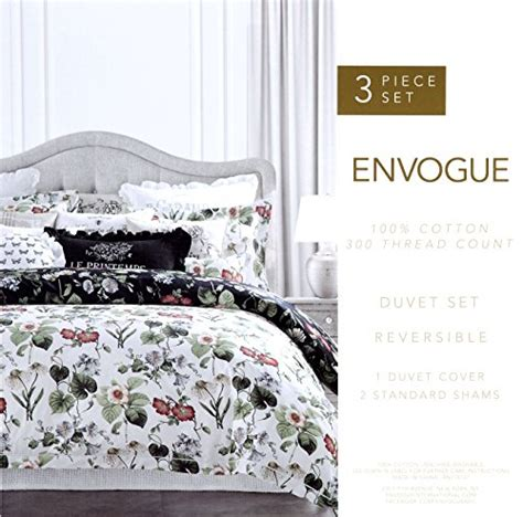 envogue bedding vintage botanical wild flower print duvet quilt cover by