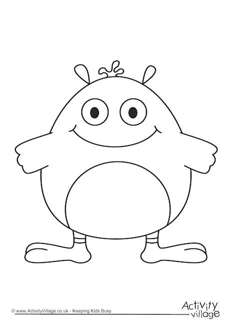 z monsters 3 monsters printable coloring pages for kids classdojo monsters sketch coloring page