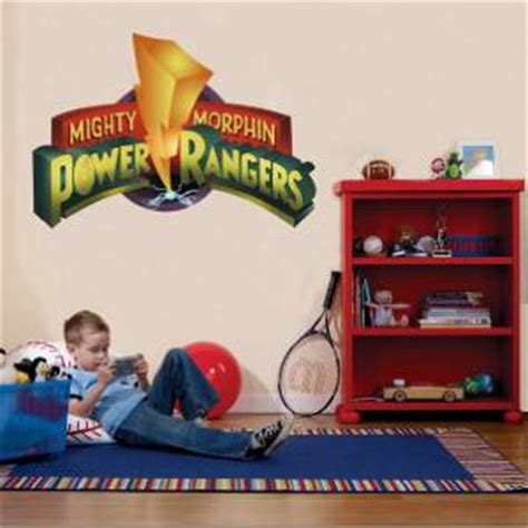 power rangers wall stickers power rangers logo mighty morphin decal removable wall sticker home decor