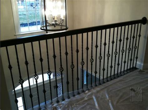 Banister Rails Metal by Wrought Iron Railings Mitre Contracting Inc