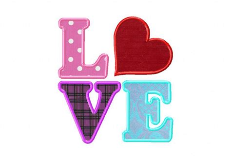 I Love The Applique | love machine embroidery design includes both applique and