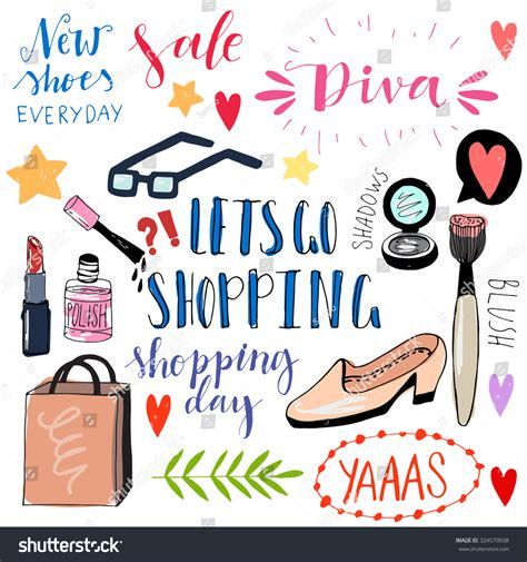 doodle shopping shopping doodle icons vector