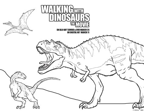 Walking With Dinosaurs Is Coming To Dvd And Blu Ray Go Away Big Green Coloring Page