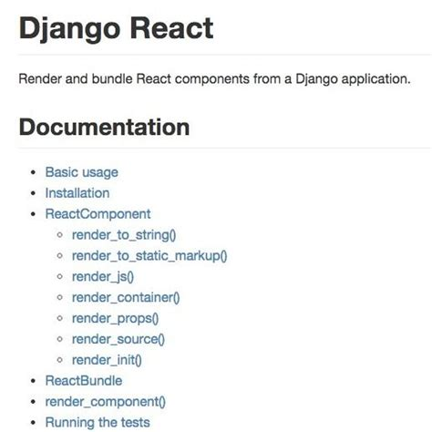 django tutorial best markfinger django react web development links