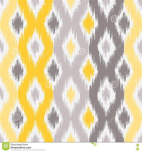 yellow gray pattern seamless geometric pattern ikat fabric style stock