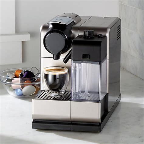 delonghi 174 nespresso 174 lattissima touch espresso maker crate and barrel